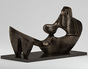 Sculpture Two Piece Reclining Figure 3D