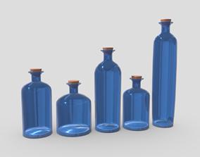 Blue Bottles 3D asset