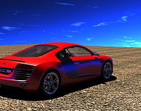 3D asset VR / AR ready Audi r8 car