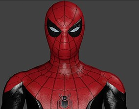 Spiderman-Rigged 3d model - Far From Home rigged