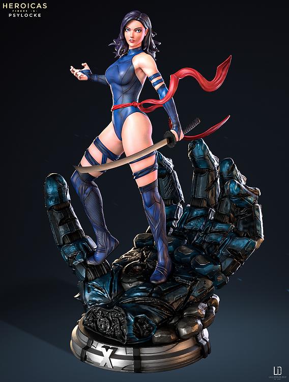 Heroicas - Figure 6 - Psylocke - 3D Print