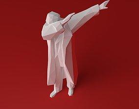 3d model pose dab lenin low poly printable