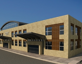 building architecture 3D Industrial Building