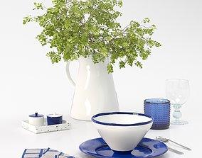 3D model Scandinavian table set