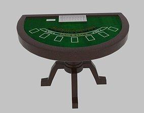 3D Black Jack Table