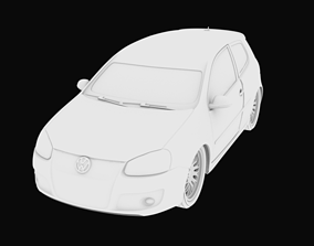Golf car with separate parts stl for 3D printing