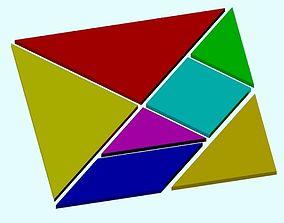 Tangram puzzle 3D printable model