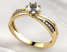 3D printable model 5mm Gemstone Gold Ring