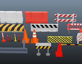 20 Obj Traffic 3D asset