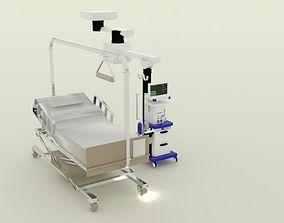 anastethia machine and bed 3D model