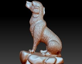 statue dog sculpture 3d model