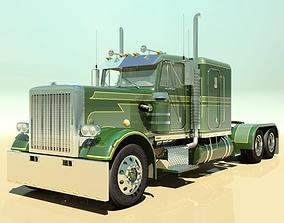 3D semi-truck 359 Custom Semi Truck
