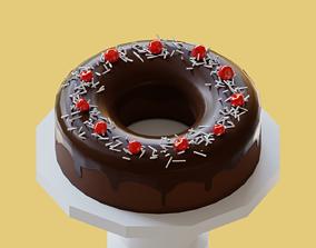 3D asset Chocolate Cake