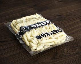 Vacuum packed udon noodle 3D model