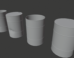 container Barrel 3D asset rigged