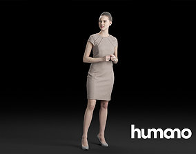 3D Humano Elegant Woman Standing and talking 0316