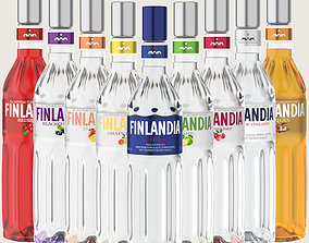 Finlandia Original Classic Bottle Vodka Of 3D asset 1