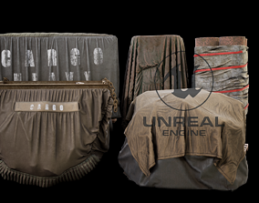 3D asset game-ready Fabric Cargo Pack 01