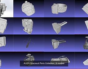 3D ALIEN Spacesuit Parts Collection