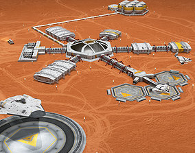 3D Moon or Mars base