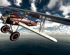 Fokker D VII German fighter plane 3D