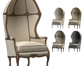 ARMCHAIR WITH VERSAILLES DOME 3D model low-poly