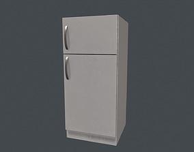 3D asset Fridge - White Fridge - Simple Fridge