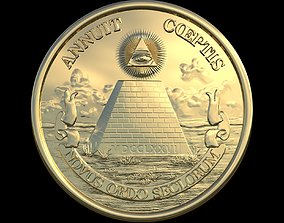 Great Seal of the United States Reverse Side 3D model