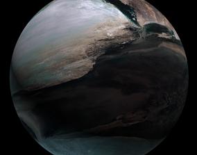 Planet Avalon moon 3D