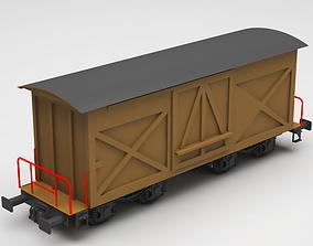 3D train wagon box