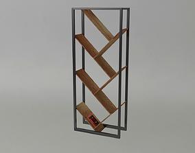 3D model Modern book shelf