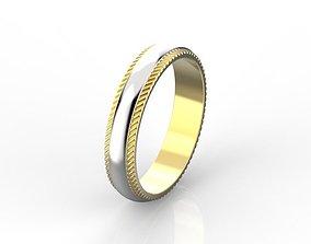 Milgrain wedding band 3D printable model