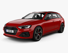 3D Audi RS4 avant with HQ interior 2021
