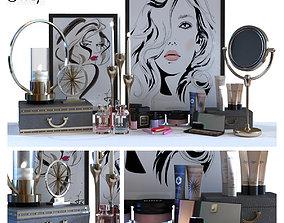 Cosmetics decoration set 015 3D asset