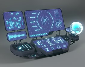 3D model Control panel display