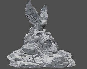 3D print model skull eagle