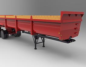 3D model low-poly Trailer Lufkin 2000