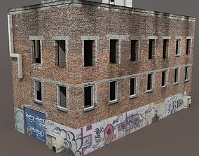 3D model Old Factory Ruin Low Poly 137