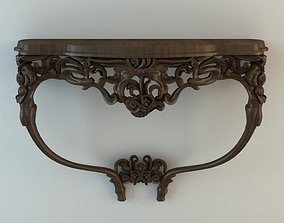 3D model Baroque Wall Hung Console Table