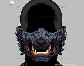 Wolf Face Mask Cosplay - High Quality 3D print model