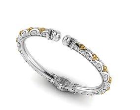 Bracelet with patterns antique bracelet 3D print 1