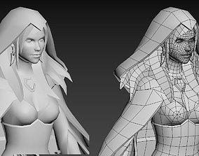 3D model Female fantasy mage