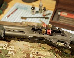 Remington 870 3D model game-ready
