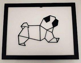 3D printable model pug sculpture 2D