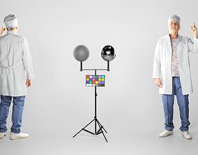 Man in a medical uniform posing 197 3D model
