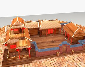 engineering 3D model Chinese ancient courtyard house