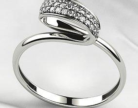 3D print model Pave Set Gems Gold Ring
