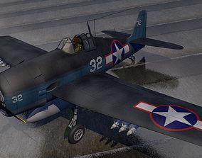 3D Grumman F6F-3 Hellcat
