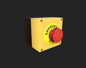 3D asset game-ready Emergency Stop