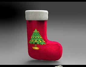 santa DL3D Christmas Sock-Stocking